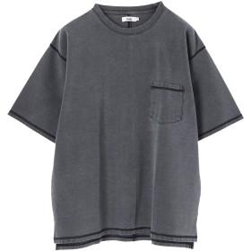 【6,000円(税込)以上のお買物で全国送料無料。】mens ポンチ3本針ステッチピグメントTシャツ