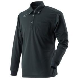 MIZUNO SHOP [ミズノ公式オンラインショップ] ドライサイエンスワークポロシャツ長袖(ネーム刺繍対応)[メンズ] 09 ブラック C2JA8181_s