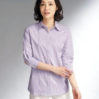 BELLUNA ベルーナ 綿ストレッチ素材!嬉しい機能満載シャツ 長袖 7分袖 レディース