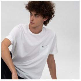 ラコステ ポケットTシャツ(半袖) メンズ ホワイト 3(日本サイズM) 【LACOSTE】
