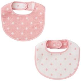 新生児 タオルスタイ2枚組 ピンク インナー・パジャマ 新生児・乳児(50~80cm) スタイ(よだれかけ) (55)