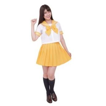 〔コスプレ〕カラーセーラー 黄4L