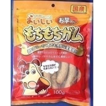 (まとめ買い)九州ペットフード おいしい もちもちガム お芋入り 100g 犬用 〔×15〕