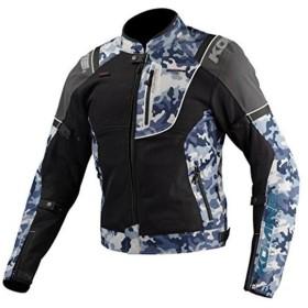 Komine(コミネ) JK-125 リフレクトライディング メッシュジャケット ブルーグレーカモ/ブラック XLサイズ 07-125