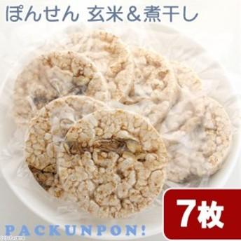 国産 ぽんせん 玄米&煮干(塩分無添加)7枚入り 個包装 無添加 犬猫用おやつ PackunxCOCOA キャットフード