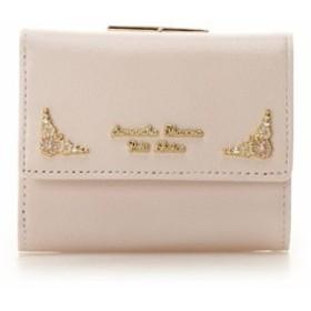 サマンサタバサ 財布 折財布 口金 がま口 フラワーモチーフシリーズ ピンク SamanthaThavasaPetitChoice