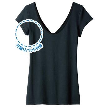 50%OFF【レディース】 2WAYインナー 汗取りパッド付フレンチ袖 - セシール ■カラー:ブラック ■サイズ:3L,LL