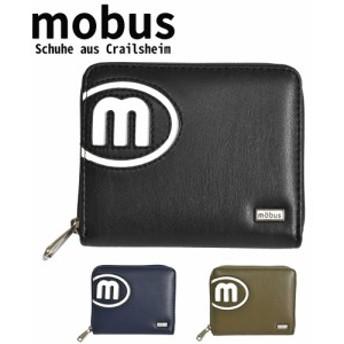 財布 二つ折り メンズ レディース モーブス mobus 小銭入れ ラウンドファスナー Mロゴ MOS-334