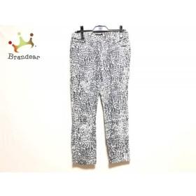 アニエスベー agnes b パンツ サイズ38 M レディース グレー×白 豹柄     スペシャル特価 20191105