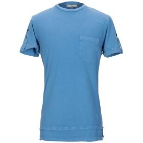 《期間限定 セール開催中》WOOL & CO メンズ T シャツ パステルブルー M コットン 85% / 麻 15%