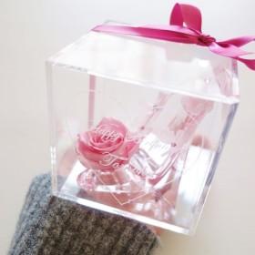 《名入れギフト☆メッセージ刻印》message ROSE princess 小さなシンデレラのガラスの靴