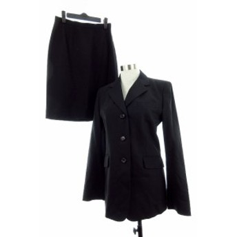 【中古】アリスバーリー Aylesbury スーツ セットアップ 上下 ジャケット テーラード スカート タイト 無地 11 9 黒
