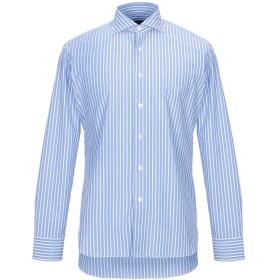 《期間限定セール開催中!》BORRIELLO NAPOLI メンズ シャツ アジュールブルー 43 コットン 100%