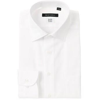 【THE SUIT COMPANY:トップス】【SUPER EASY CARE】ワイドカラードレスシャツ ヘリンボーン 〔EC・BASIC〕