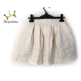 リリーブラウン Lily Brown スカート サイズ0 XS レディース 美品 アイボリー     スペシャル特価 20191028