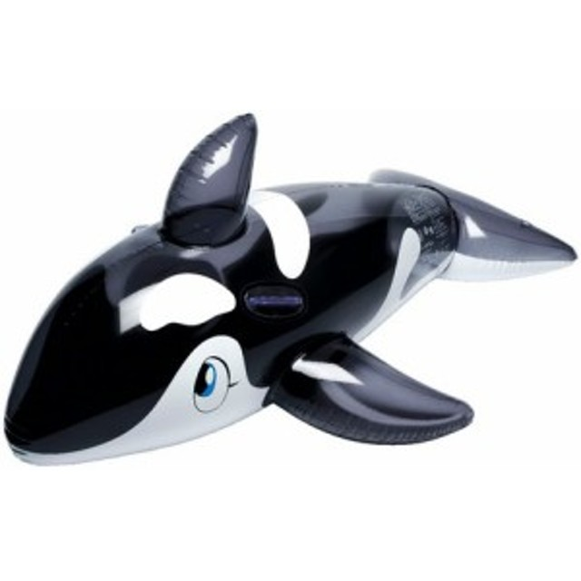 浮き輪 キッズ 水着 リアルフロート シャチ フロート クリアブラック おもちゃ ホビー 水あそび 浮輪 ウキワ プール 海