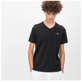 ラコステ ベーシック Vネック Tシャツ (半袖) メンズ ブラック 5(日本サイズXL) 【LACOSTE】