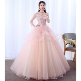 豪華なカラードレス 2点セット パニエ付き ウエディングドレス ロングドレス パーティードレス 送料無料 1713