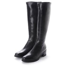 ルカ グロッシ LUCA GROSSI 5cmヒールカーフスムースロングブーツ (ブラック)