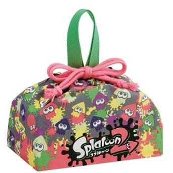 お弁当袋 ランチ巾着 スプラトゥーン2 子供 キャラクター ( 給食袋 幼稚園 保育園 子供用お弁当袋 ランチボックス巾着 ランチ巾着 弁当