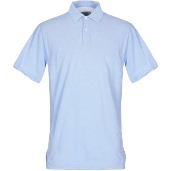 《セール開催中》FEDELI メンズ ポロシャツ スカイブルー 62 コットン 100%