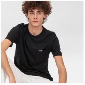 ラコステ ベーシッククルーネックポケットTシャツ (半袖) メンズ ブラック 5(日本サイズXL) 【LACOSTE】