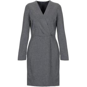 《セール開催中》BLUE LES COPAINS レディース ミニワンピース&ドレス 鉛色 44 レーヨン 70% / ナイロン 25% / ポリウレタン 5%
