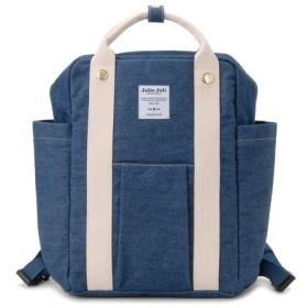 バッグ カバン 鞄 レディース リュック デニム素材リュックサック/2018028 カラー 「ブルー×アイボリー」