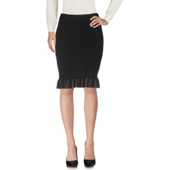 《セール開催中》CRISTINAEFFE レディース ひざ丈スカート ブラック 42 ウール 50% / アクリル 50%