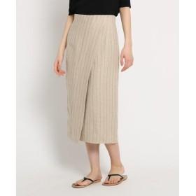 DRESSTERIOR / ドレステリア リネンストライプラップタイトスカート