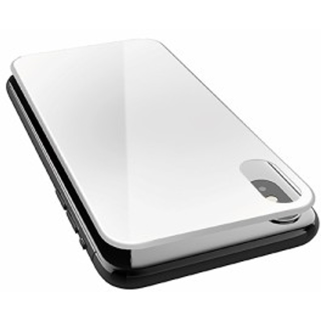 3c9bfc85ff エレコム iPhoneXS 背面フルカバーガラスフィルム ホワイト PM-A18BFLGGRUWH