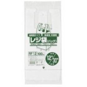 ジャパックス レジ袋無着色半透明省資源 (100枚入) RF12 00071764 【まとめ買い10冊セット】