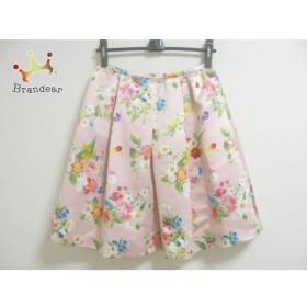 チェスティ Chesty スカート サイズ1 S レディース 美品 ピンク×マルチ 花柄   スペシャル特価 20190905