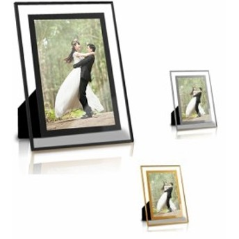 写真立て インテリア 贈り物 プレゼント 思い出 お祝い ガラス 額縁 フォトフレーム 透明 写真 横縦 ガラス製 2Lサイズ tecc-gphoto