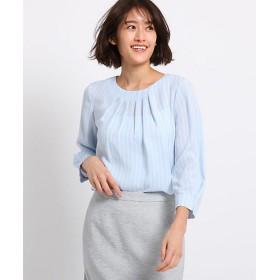 <INDIVI 小さいサイズ> [S]プルエラドレープ タックシャツ(2001509248) アオ(190) 【三越・伊勢丹/公式】