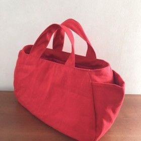 ◆matibari◆帆布のプランプバックーminiサイズ(レッド)