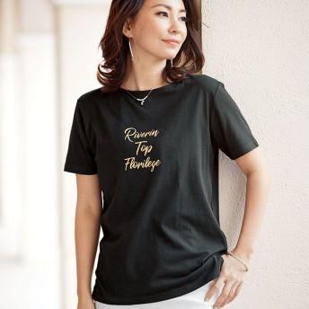 ベルーナ 大人のロゴプリントTシャツ レディース