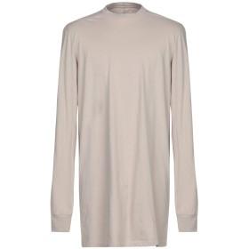 《期間限定 セール開催中》RICK OWENS メンズ T シャツ ライトグレー S コットン 100%
