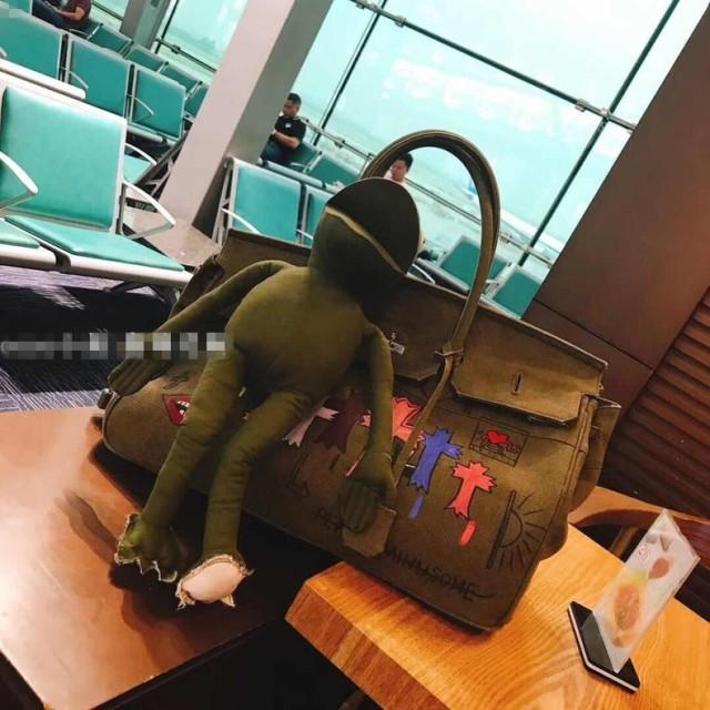 NEW入荷!SALE!24時間 落書きバッグ!DIY 2018新品入荷!韓国ファッション/人気カバン/華やかな柄バッグカートンレディースハンドバッグショルダーバッグ