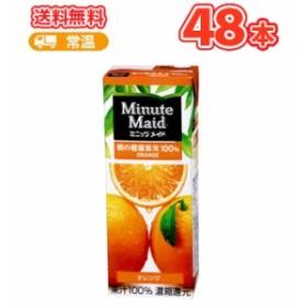 ミニッツメイト゛ オレンジ100% 【200ml】×24本/2ケース 紙パック ブリック おれんじ 果汁