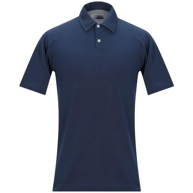 《セール開催中》FEDELI メンズ ポロシャツ ブルー 62 コットン 100%