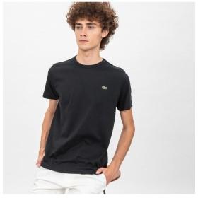 ラコステ ベーシック クルーネック Tシャツ (半袖) メンズ ブラック 3(日本サイズM) 【LACOSTE】