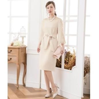 ドレススター(DRESS STAR)/デコルテ刺繍レースフェミニンワンピースドレス
