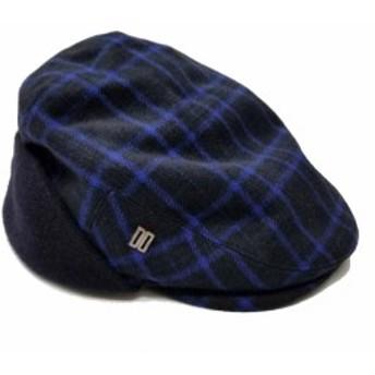 未使用 訳あり ダックス ハンチング帽 帽子 ゴルフ ネイビー 紺 DAKS GOLF 【中古】