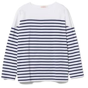NICENESS / HI FIVE ボーダーカットソー メンズ Tシャツ WHITExBLUE S