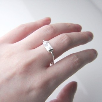 Rectangle Square Sterling Silver Ring/レクタングルシルバーリング