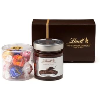 リンツ Lindt チョコレート チョコ スイーツ ギフト リンツ スプレッド ギフトボックス(リンドール&チョコレートスプレッド)