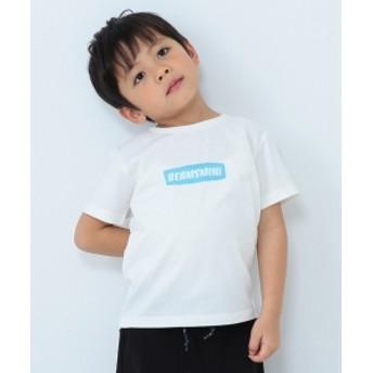 BEAMS mini / ロゴTシャツ (90~150㎝) キッズ Tシャツ OFF WHT 110
