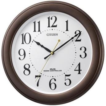 リズム時計 電波掛け時計 茶メタリック 8MY509-006 [8MY509006]