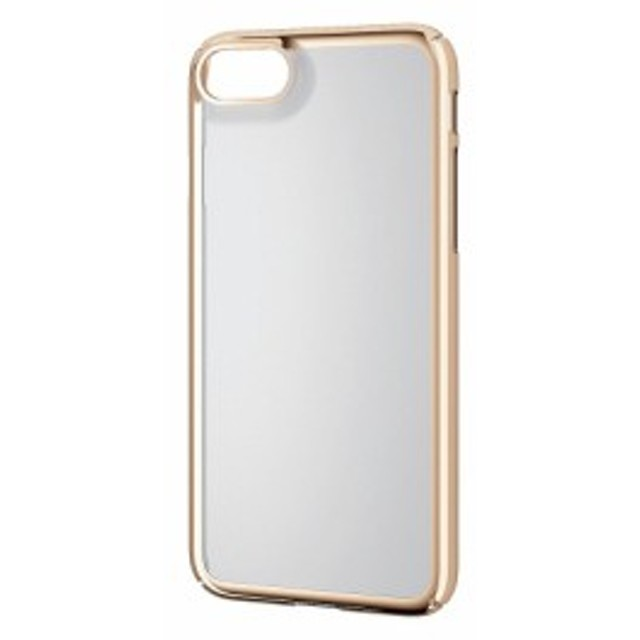 6b2bbf6c15 エレコム iPhone8 ケース シェルカバー 極み ポリカーボネート素材 サイドメッキ iPhone7 対応 ゴールド PM-A17MPVKMGD